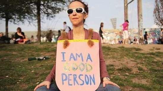 virtue signaling good person