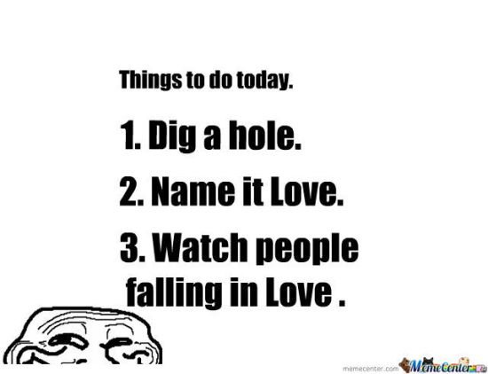 falling in love hole