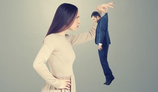 female scrutiny of male