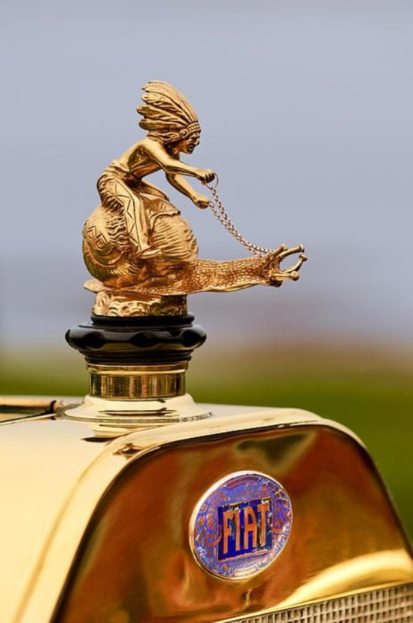 indian snail fiat hood ornament
