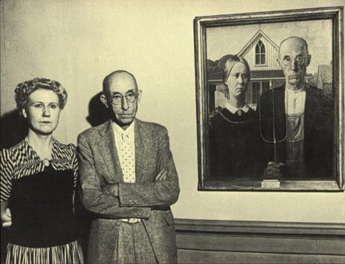 American Gothic with models