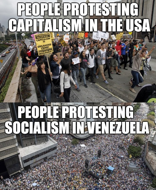 protesters in US venezuela