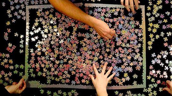 1000 color puzzle border