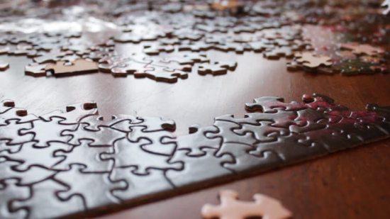 jigsaw puzzle in progress
