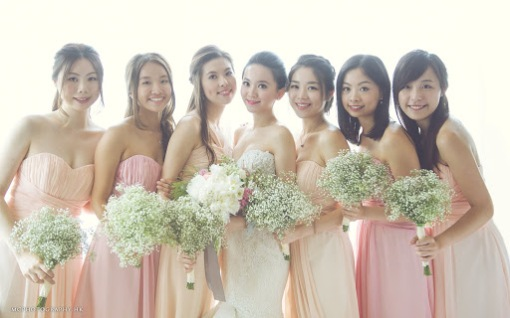 asian wedding bride and maids